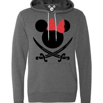 Pirate Minnie - Disney Cruise - Pirate Night Hoodie - With Personalization Option