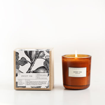Sweet Fig Amber Glass Candle