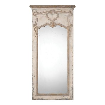 Carlazzo Antiqued White Mirror by Uttermost