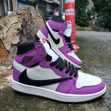 Air Jordan 1 High OG TS SP White/Black/Purple