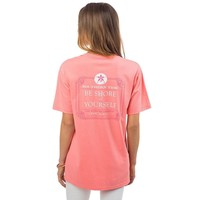 Be Shore Of Yourself Pocket Tee Shirt in Light Coral by Southern Tide