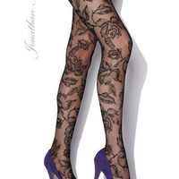 Peek Brooklyn - Flock of Flowers-Tulle Tights Stockings, tights, hold-ups and leggings