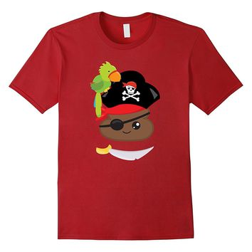 Pirate Poop T-Shirt Halloween Birthday Gift Party Time
