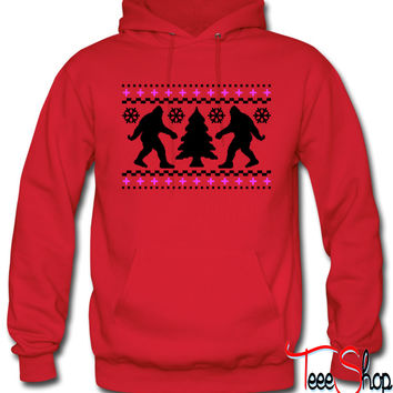 Ugly Holiday Bigfoot Christmas Sweater hoodie