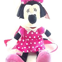 Disney Minnie Mouse Girls Pink Minnie Mouse 3D Shaped Plush Backpack Bag