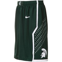 Nike Michigan State Spartans Green Replica Basketball Shorts