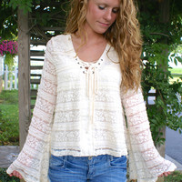 American Honey Top: Cream