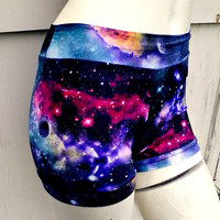 Black hole Galaxy Nebula bikini boyshort shorts swim Roller Derby