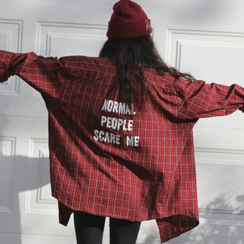 Normal People Scare Me Flannel Shirt