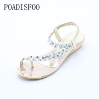 POADISFOO Summer sandals women flat sandals toe sandals Bohemia fashion women 's shoes