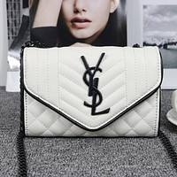 YSL Women Shopping Bag Leather Chain Shoulder Bag Satchel  Crossbody