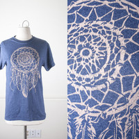 Vintage 90s Dreamcatcher T Shirt | Native American Inspired Vintage Tee Spirit Animal Tee 80s Hipster Novelty Boho Chic Feathers Tribal S
