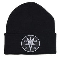 KULT Clothing — KUNT PATCH BLACK BEANIE