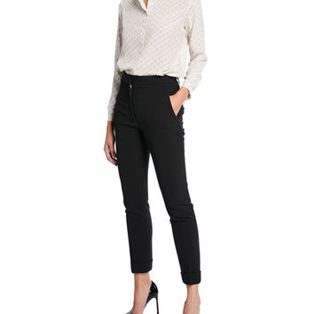 Stella McCartney Classic Stretch Wool Cuffed Trousers