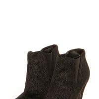 Boutique Hetty Faux Pony Skin Metallic Tipped Ankle Boot