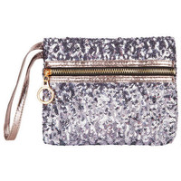 Scattered Sequin Wristlet