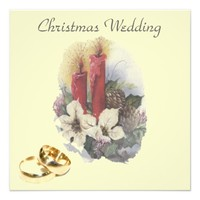 Christmas wedding - wedding invitation