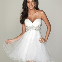 New Women Strapless Bodice Evening Prom Ball Gown Cocktail Party Dress Short US
