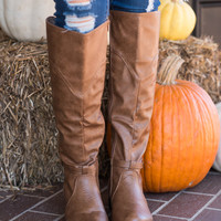 Chic Start Boots, Cognac