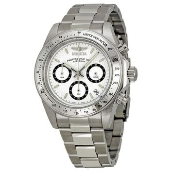 Invicta Speedway Chronograph White Dial Stainless Steel Mens Watch 7025