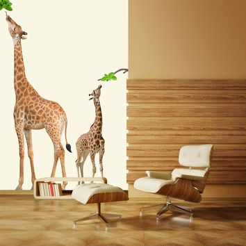 Giraffe wall decals wall decal