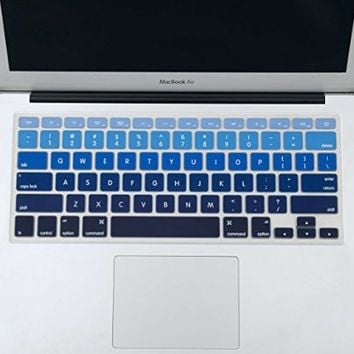 "Mosiso - Keyboard Cover Silicone Skin for MacBook Air 13"" and MacBook Pro 13"" 15"" 17"" (with or w/out Retina Display) iMac -mix Black Ombre"