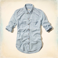 Rolling Hills Embroidered Denim Shirt