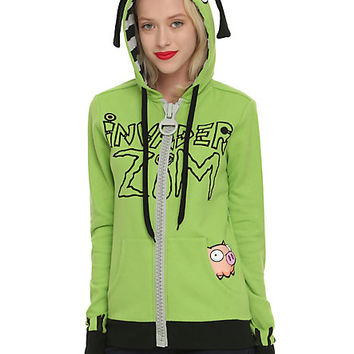 Invader Zim Gir I Will Rule You All Girls Hoodie