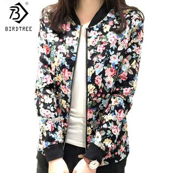 Cool Plus Size 3XL Spring Autumn Fashion Baseball Floral Jacket Women Ditsy Print Zipper Varsity Outwear Woman Clothes C55302AT_93_12