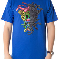 The Dissected Medusa Tee in Cobalt