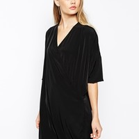 The Laden Showroom X Mirror Mirror Wrap Front Dress