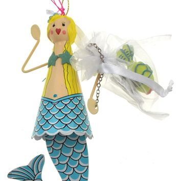 Betsey Johnson Christmas Ornament Set Mermaid Blue Tail Green Fi b62a4a742