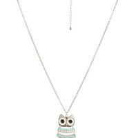 Pretty Owl Pendant Necklace | Shop Jewelry at Wet Seal