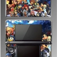 Kingdom Hearts Sora Goofy Mickey Mouse Minnie Donald Duck Video Game Vinyl Decal Skin Cover Protector for Nintendo 3DS