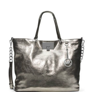 Michael Michael Kors Large Channing Leather Shoulder Tote
