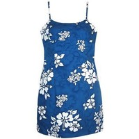 waves hawaiian spaghetti dress
