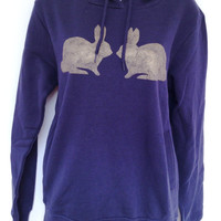 Bunnies Hoodie - Womens - low carbon, organic cotton, fairly traded