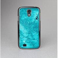 The Vibrant Blue Cement Texture Skin-Sert Case for the Samsung Galaxy S4