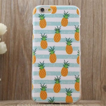 Cute Pineapple iPhone 7 se 5S 6 6S Plus Case Very Light Superior Quality Cover + Gift Box