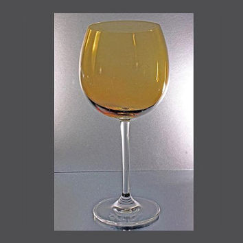 Lenox Crystal Amber Balloon Wine Glass