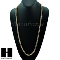 HIP HOP MIGOS RICK ROSS SIMULATED CLEAR DIAMOND TENNIS CHAIN NECKLACE