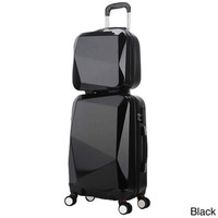 World Traveler Diamond 2-Piece Carry-on Spinner Luggage Set - 17855822 - Overstock.com Shopping - Great Deals on World Traveler Two-piece Sets