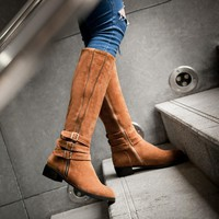 Hot Deal On Sale Plus Size Knee-length Winter Boots [120847532057]