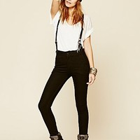 Courtshop Womens James Suspender Skinny - Aspen Black,