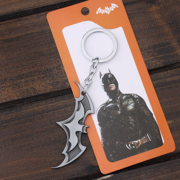 Bat Man Movie Theme Metal Keychains Batman Key Chain comic figure pendant accessories Christmas Present JJ-41
