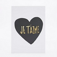 Ohh Deer Je T'aime A5 Notebook - Urban Outfitters