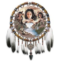 Native American-Inspired Dreamcatcher Wall Decor Art: Dreams Of The Sacred Elements by The Bradford Exchange