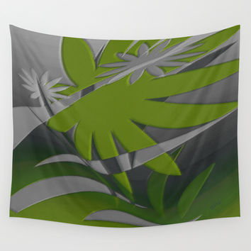 Colored Jungle Green Wall Tapestry by Ben And Raisa Gertsberg