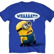 Despicable Me Whaaaa? Mens Royal Blue T-shirt L