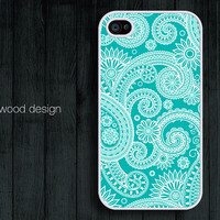 beautiful  iphone 4 case iphone 4s case iphone 4 cover unique case illustration blue flowers design printing
